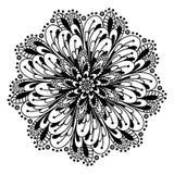 Garabato de la página del colorante de la mandala Fotografía de archivo libre de regalías
