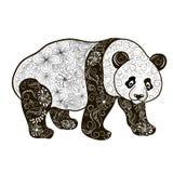 Garabato de la panda stock de ilustración