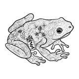Garabato de la rana ilustración del vector