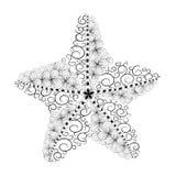 Garabato de las estrellas de mar ilustración del vector