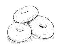 Garabato de los anillos de espuma Imagen de archivo