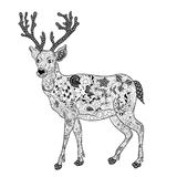 Garabato de los ciervos ilustración del vector