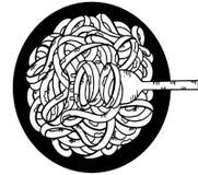 garabato de los espaguetis, dibujo de la mano Foto de archivo