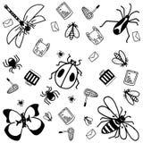 Garabato de los insectos para los niños Foto de archivo