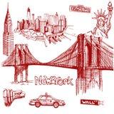 Garabato de Nueva York a pulso Foto de archivo