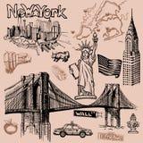 Garabato de Nueva York a pulso ilustración del vector