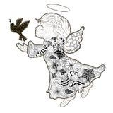 Garabato del ángel ilustración del vector