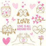 Garabato del amor Imagenes de archivo