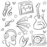 Garabato del arte del vector de la música stock de ilustración