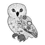 Garabato del búho libre illustration