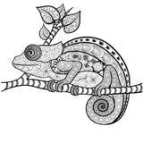Garabato del camaleón ilustración del vector