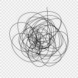 garabato del caos ilustración del vector