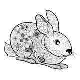 Garabato del conejo ilustración del vector