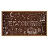 Garabato del consejo escolar con símbolos ecomony Vector Fotografía de archivo libre de regalías