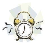 Garabato del despertador stock de ilustración