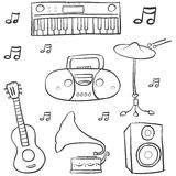 Garabato del drenaje de la mano de la música ilustración del vector