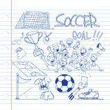 Garabato del fútbol Fotografía de archivo
