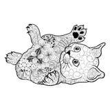 Garabato del gatito stock de ilustración