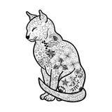 Garabato del gato stock de ilustración