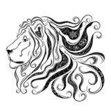Garabato del león ilustración del vector