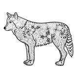 Garabato del lobo stock de ilustración
