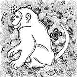 Garabato del mono ilustración del vector