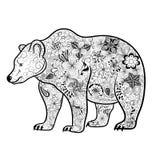 Garabato del oso stock de ilustración