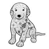 Garabato del perrito stock de ilustración
