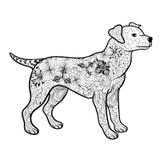 Garabato del perro ilustración del vector