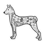 Garabato del perro stock de ilustración