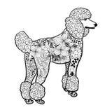 Garabato del perro de caniche stock de ilustración