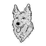 Garabato del perro de pastor stock de ilustración