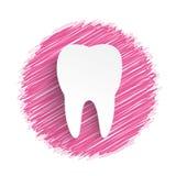Garabato del rosa del diente Fotografía de archivo libre de regalías