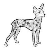 Garabato del terrier de juguete ilustración del vector