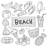 Garabato del vector de las vacaciones de verano libre illustration