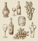 Garabato del vino stock de ilustración