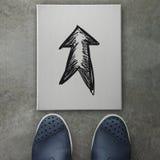 Garabato dibujado mano del diseño de la flecha Foto de archivo libre de regalías