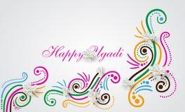Garabato feliz de Ugadi Imágenes de archivo libres de regalías