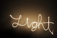 Garabato ligero en la oscuridad Foto de archivo libre de regalías