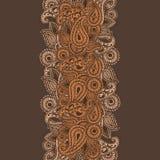 Garabato a mano de Henna Mehndi Abstract Mandala Flowers y de Paisley Fotos de archivo