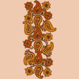 Garabato a mano de Henna Mehndi Abstract Mandala Flowers y de Paisley Fotografía de archivo
