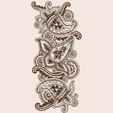 Garabato a mano de Henna Mehndi Abstract Mandala Flowers y de Paisley Imagenes de archivo