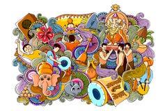 Garabato para Ganesh Chaturth feliz Fotografía de archivo libre de regalías