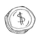 Garabato simple de un dólar Imágenes de archivo libres de regalías