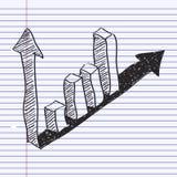 Garabato simple de un gráfico de barra Foto de archivo libre de regalías