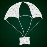 Garabato simple de un paracaídas Fotos de archivo libres de regalías