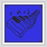 Garabato simple de un teclado de piano Imagenes de archivo