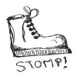 Garabato simple de una bota Foto de archivo libre de regalías