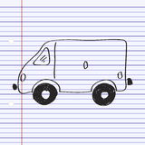 Garabato simple de una furgoneta Foto de archivo