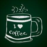 Garabato simple de una taza de café Imagen de archivo